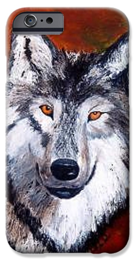 Palette Knife IPhone 6 Case featuring the painting Look Into My Eyes by Tami Booher