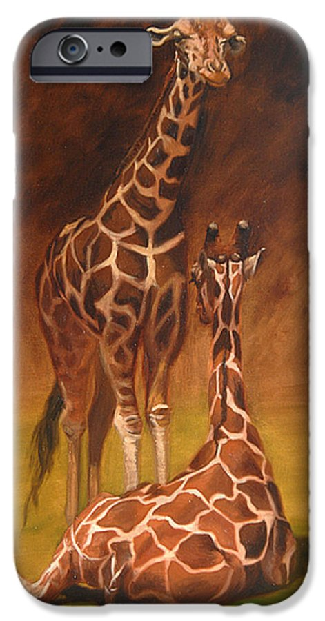 Oil IPhone 6 Case featuring the painting Looking Out For Each Other by Greg Neal