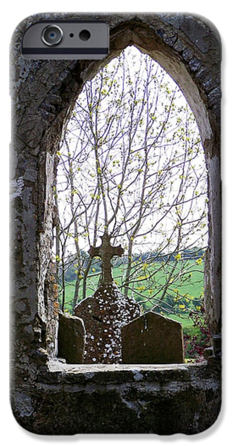Ireland IPhone 6 Case featuring the photograph Looking Out Fuerty Church Roscommon Ireland by Teresa Mucha