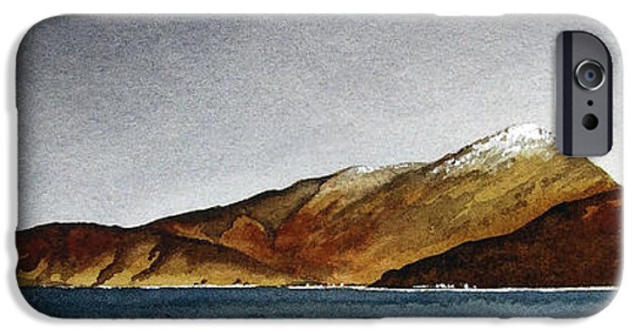 Seascape IPhone 6 Case featuring the painting Looking Towards Arran From Skipness by Paul Dene Marlor