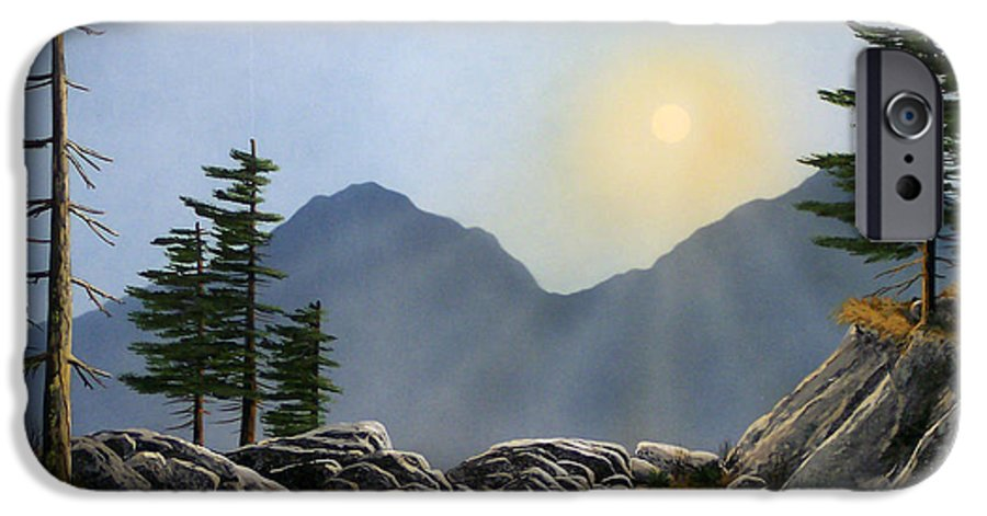 Landscape IPhone 6 Case featuring the painting Lookout Rock by Frank Wilson