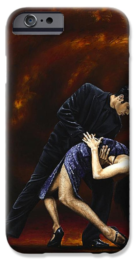Tango IPhone 6 Case featuring the painting Lost In Tango by Richard Young
