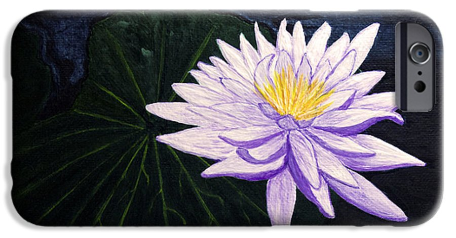 Original Painting IPhone 6 Case featuring the painting Lotus Blossom At Night by Patricia Griffin Brett