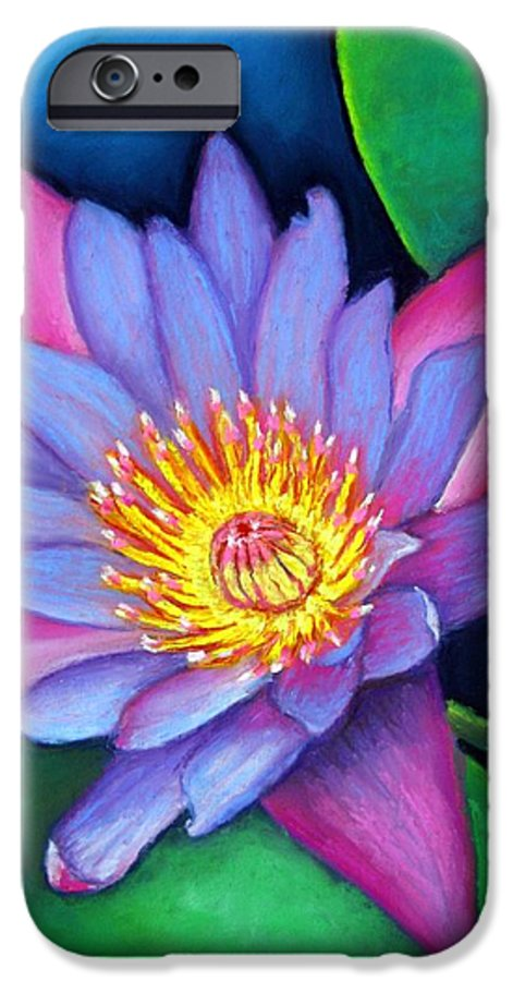 Flower IPhone 6 Case featuring the painting Lotus Divine by Minaz Jantz