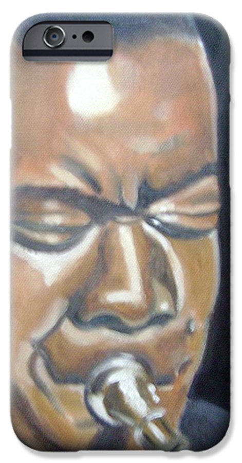 Louis Armstrong IPhone 6 Case featuring the painting Louis Armstrong by Toni Berry
