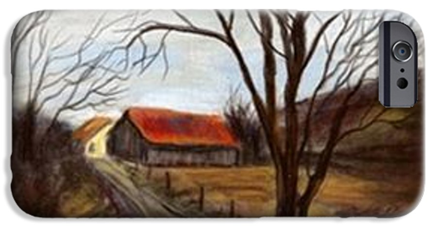 Barn IPhone 6 Case featuring the painting Louisa Kentucky Barn by Gail Kirtz