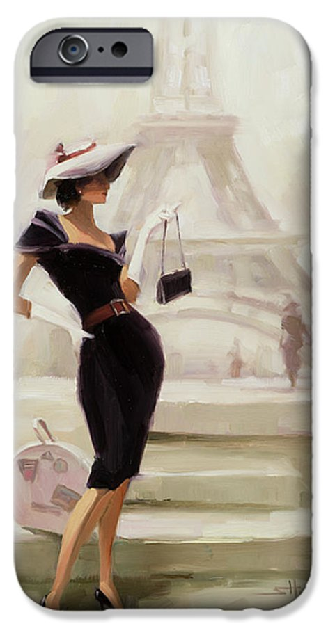 Paris IPhone 6 Case featuring the painting Love, From Paris by Steve Henderson