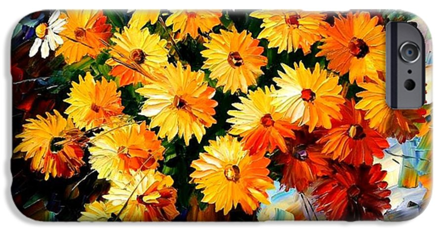 Flowers IPhone 6 Case featuring the painting Love Irradiation by Leonid Afremov