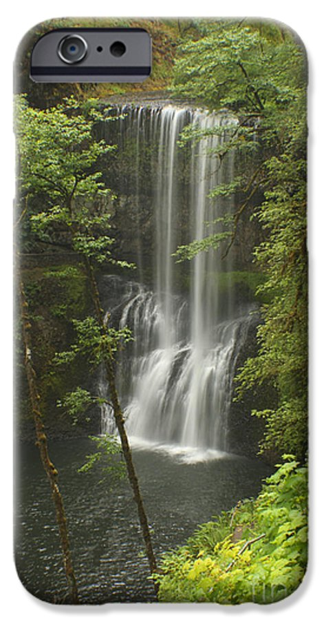 Silver Falls IPhone 6 Case featuring the photograph Lower South Falls by Idaho Scenic Images Linda Lantzy