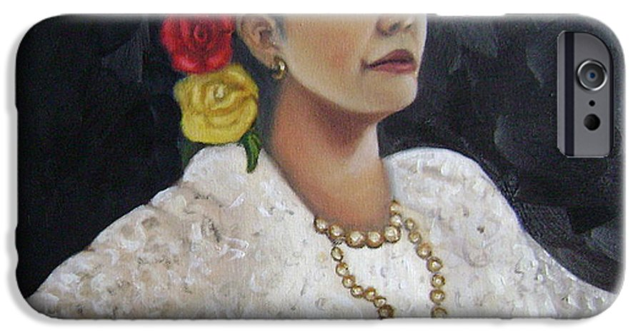 IPhone 6 Case featuring the painting Lucinda by Toni Berry