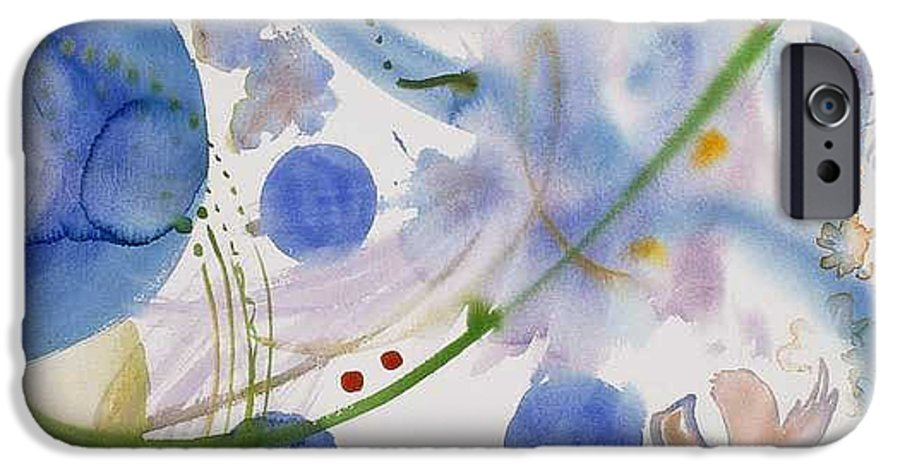 Abstract IPhone 6 Case featuring the painting Lunar Galactic Convergence by Eileen Hale