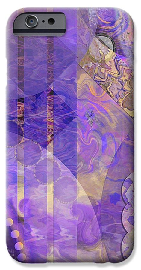 Lunar Impressions 2 IPhone 6 Case featuring the digital art Lunar Impressions 2 by John Beck