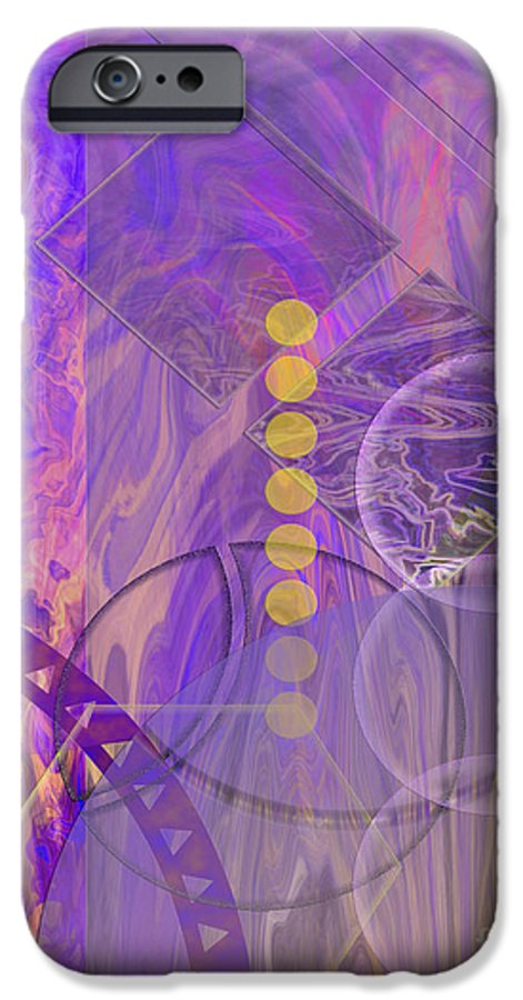 Lunar Impressions 3 IPhone 6 Case featuring the digital art Lunar Impressions 3 by John Beck