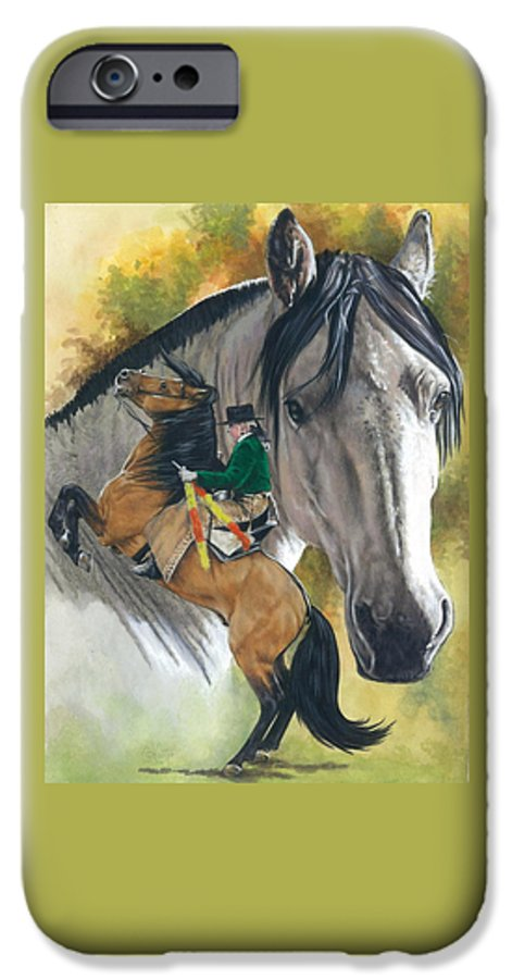 Horses IPhone 6 Case featuring the mixed media Lusitano by Barbara Keith