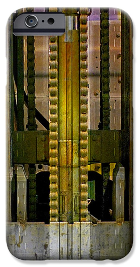 Texture IPhone 6 Case featuring the photograph Machina by Skip Hunt