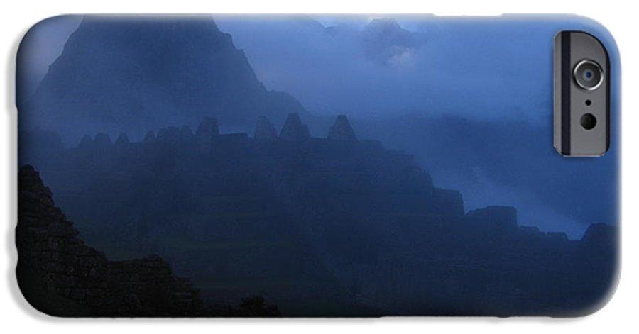 Landscape IPhone 6 Case featuring the photograph Machu Picchu Dawn by Sam Oppenheim