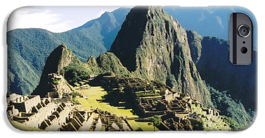 Peru IPhone 6 Case featuring the photograph Machu Picchu by Kathy Schumann