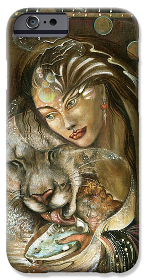 Wildlife IPhone 6 Case featuring the painting Madonna by Blaze Warrender