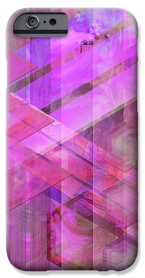 Magenta Haze IPhone 6 Case featuring the digital art Magenta Haze by John Beck