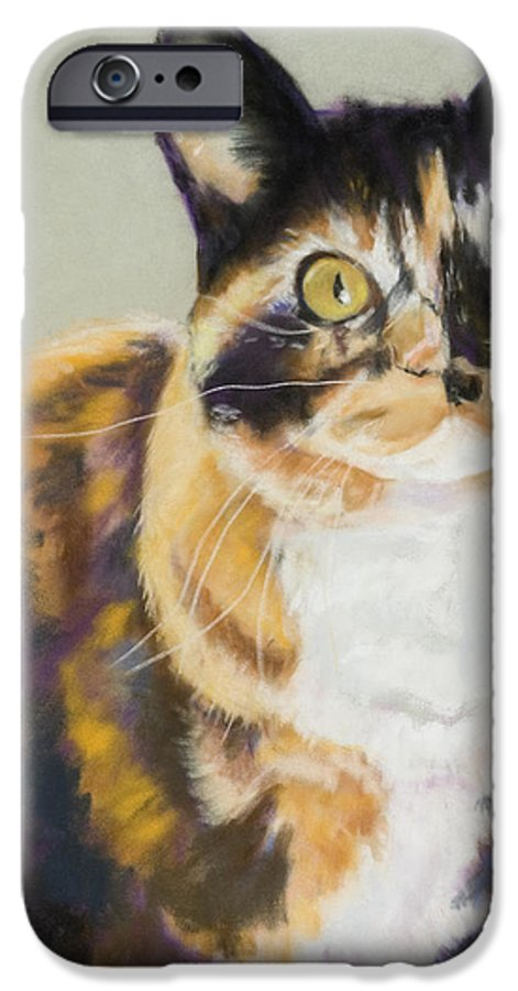 Calico IPhone 6 Case featuring the painting Maggie Mae by Pat Saunders-White