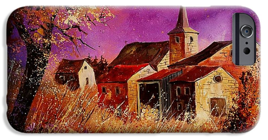 Landscape IPhone 6 Case featuring the painting Magic Autumn by Pol Ledent