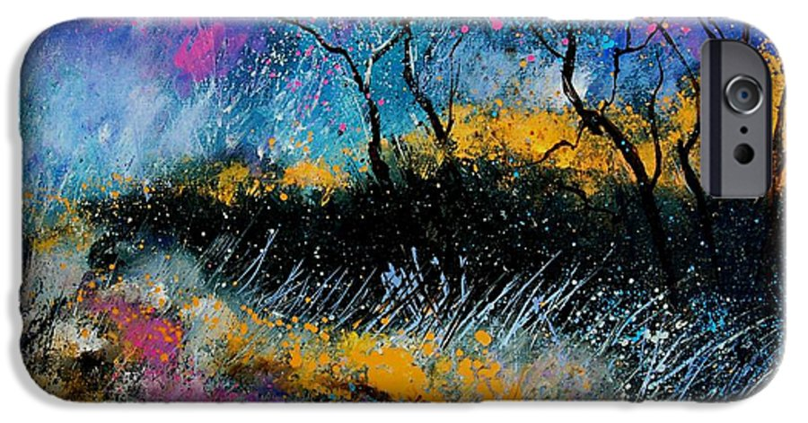 Landscape IPhone 6 Case featuring the painting Magic Morning Light by Pol Ledent