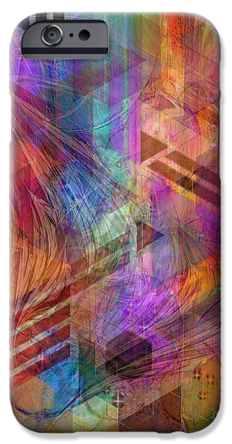 Magnetic Abstraction IPhone 6 Case featuring the digital art Magnetic Abstraction by John Beck