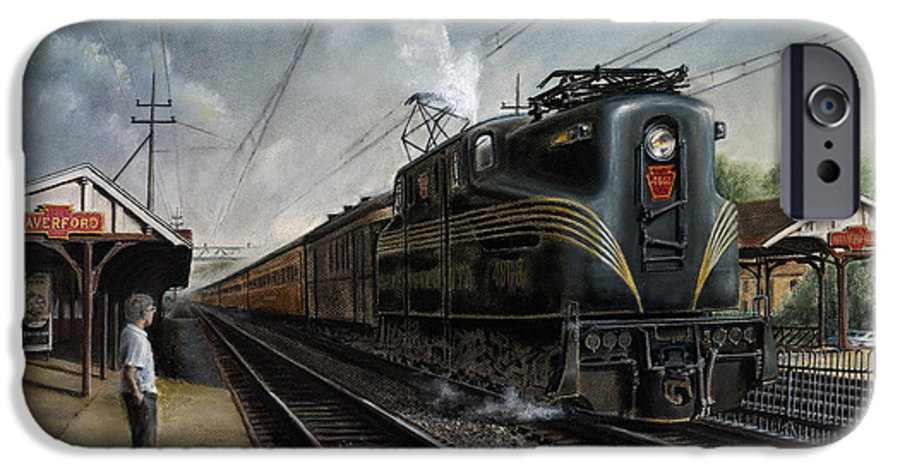 Trains IPhone 6 Case featuring the painting Mainline Memories by David Mittner