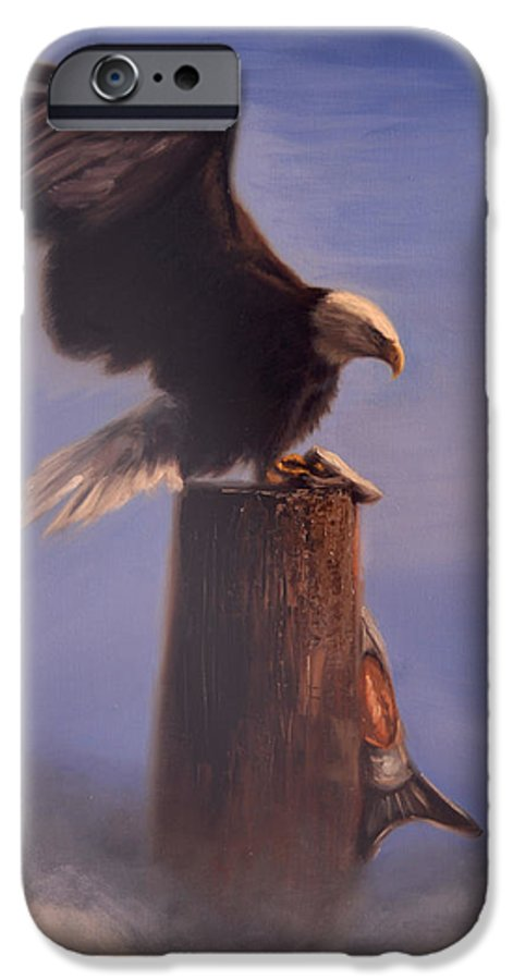 Oil IPhone 6 Case featuring the painting Majestic by Greg Neal