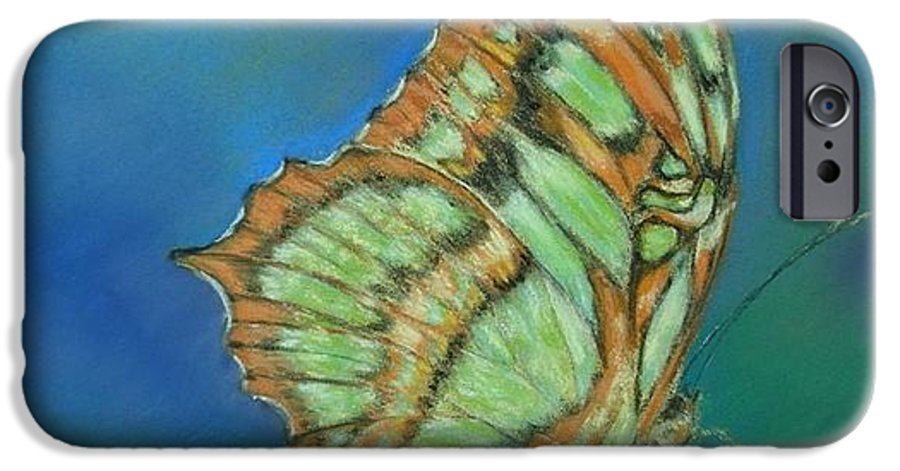 Butterfly IPhone 6 Case featuring the painting Malachite by Ceci Watson