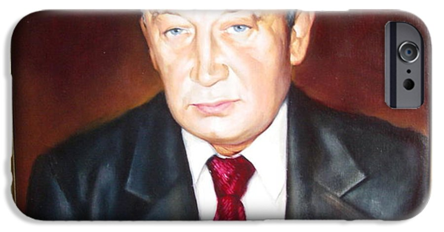 Art IPhone 6 Case featuring the painting Man 1 by Sergey Ignatenko