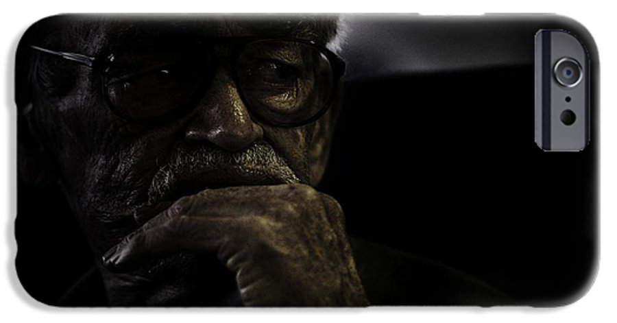 Portrait IPhone 6 Case featuring the photograph Man On Ferry by Sheila Smart Fine Art Photography