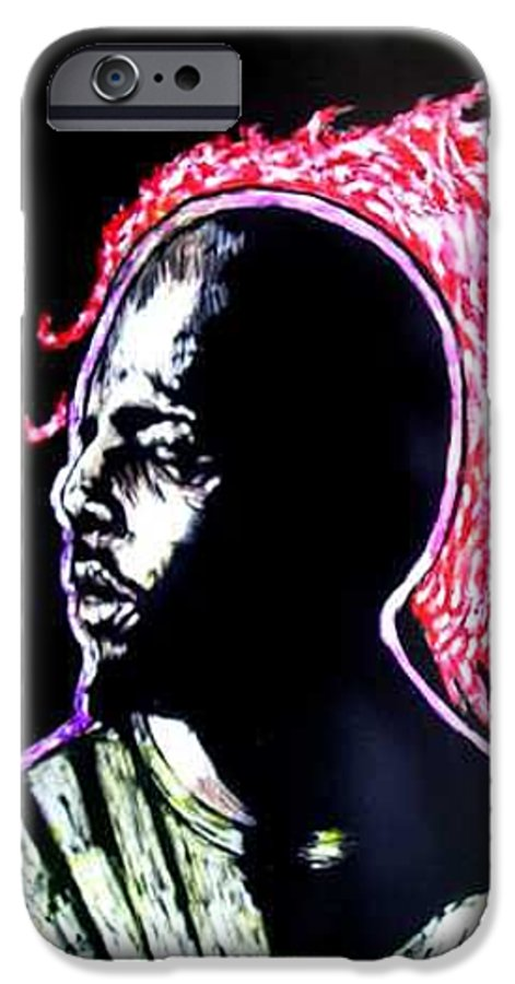 IPhone 6 Case featuring the mixed media Man On Fire by Chester Elmore