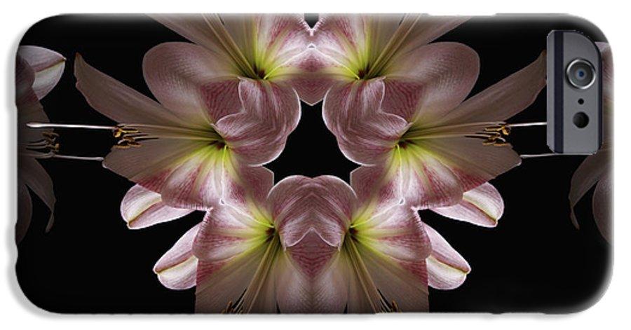 Mandala IPhone 6 Case featuring the digital art Mandala Amarylis by Nancy Griswold
