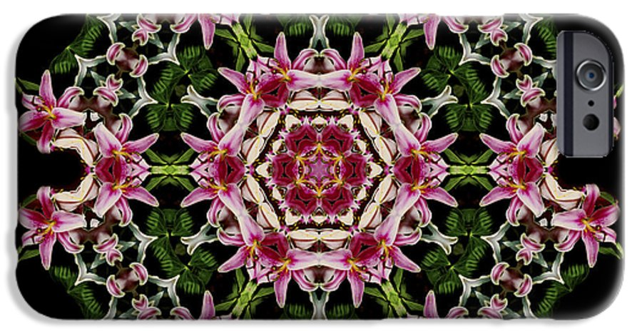 Mandala IPhone 6 Case featuring the photograph Mandala Monadala Lisa by Nancy Griswold