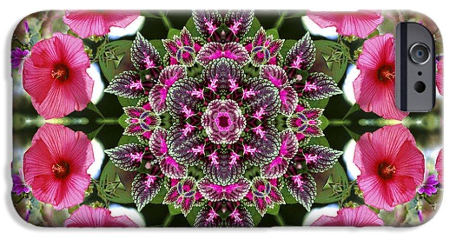 Mandala IPhone 6 Case featuring the digital art Mandala Pink Patron by Nancy Griswold