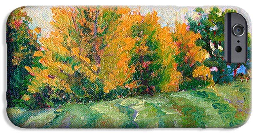 Impressionism IPhone 6 Case featuring the painting Maple Grove by Keith Burgess