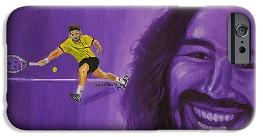 Marcos IPhone 6 Case featuring the painting Marcos Baghdatis by Quwatha Valentine