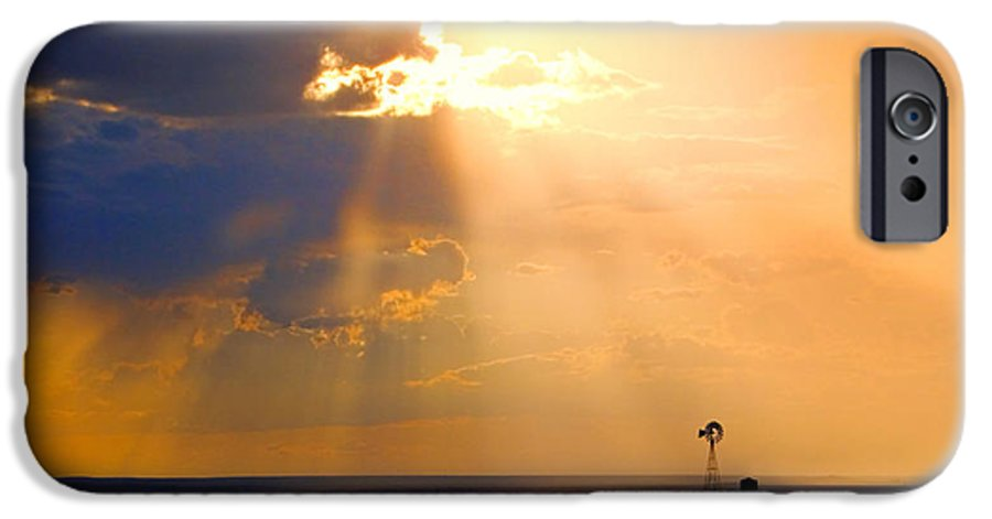 Skip Hunt IPhone 6 Case featuring the photograph Marfa Windmill 1 by Skip Hunt