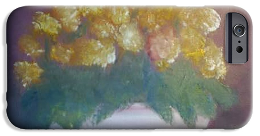 Marigolds IPhone 6 Case featuring the painting Marigolds by Sheila Mashaw