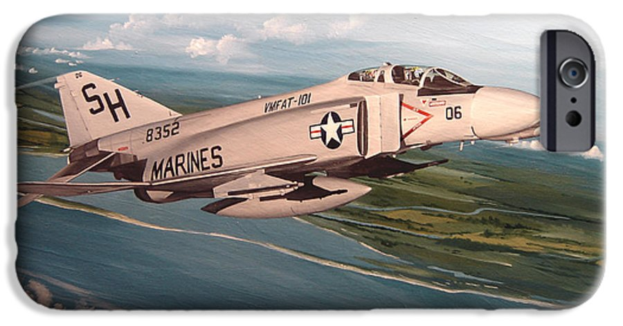 Aviation IPhone 6 Case featuring the painting Marine Phantom by Marc Stewart