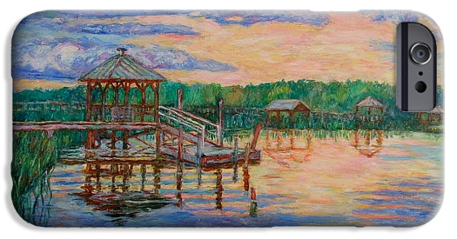 Landscape IPhone 6 Case featuring the painting Marsh View At Pawleys Island by Kendall Kessler