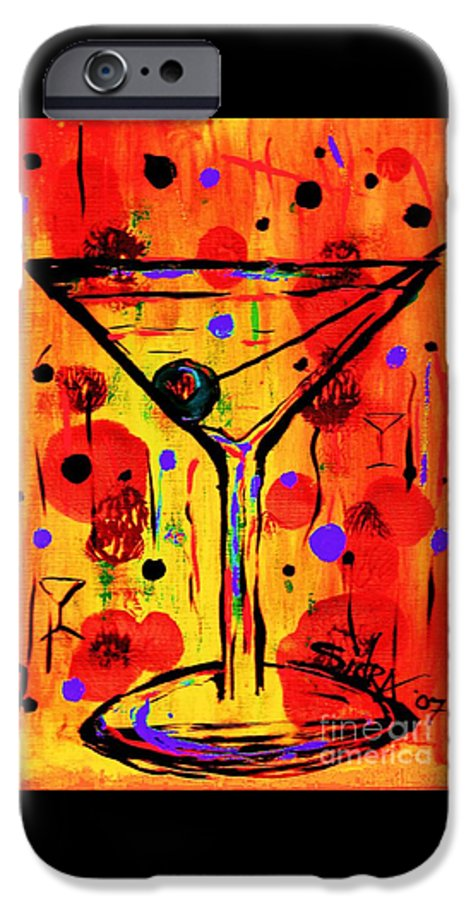 Martini IPhone 6 Case featuring the painting Martini Twentyfive Of Sidzart Pop Art Collection by Sidra Myers