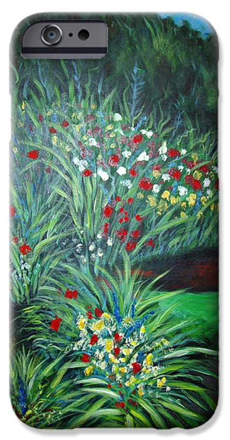 Landscape IPhone 6 Case featuring the painting Maryann's Garden 3 by Nancy Mueller