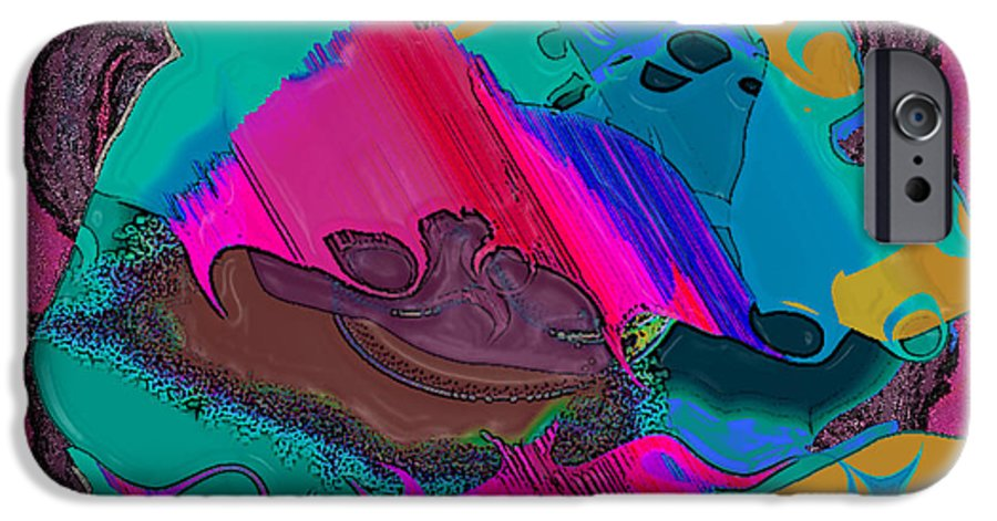 Ebsq IPhone 6 Case featuring the digital art Mauve Abstract by Dee Flouton