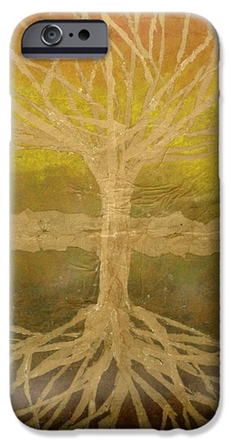 Abstract IPhone 6 Case featuring the painting Meditation by Leah Tomaino