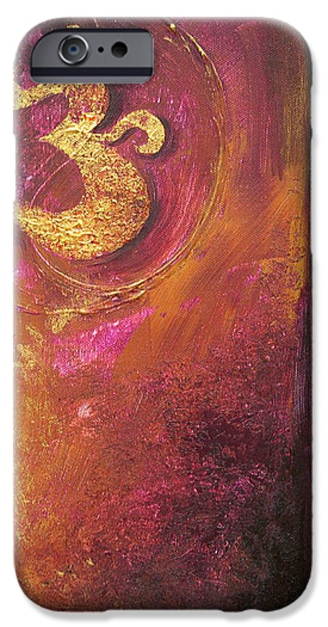 Ohm Om Mantra Yoga Spiritual Buddhist Meditationabstract IPhone 6 Case featuring the painting Meditations by Dina Dargo