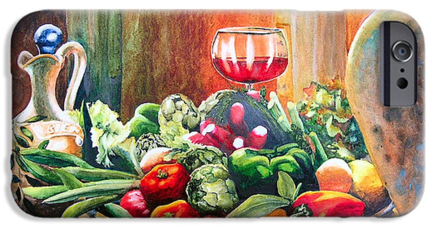 Still Life IPhone 6 Case featuring the painting Mediterranean Table by Karen Stark