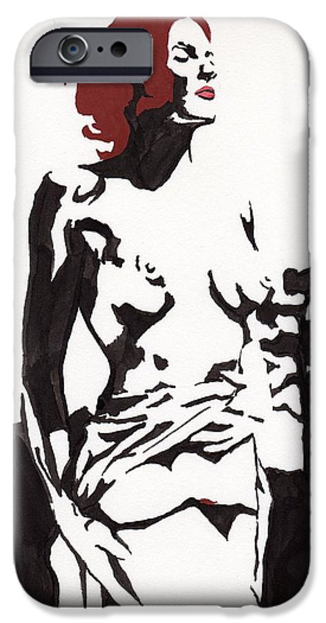 IPhone 6 Case featuring the drawing Megan - Sunlight by Stephen Panoushek