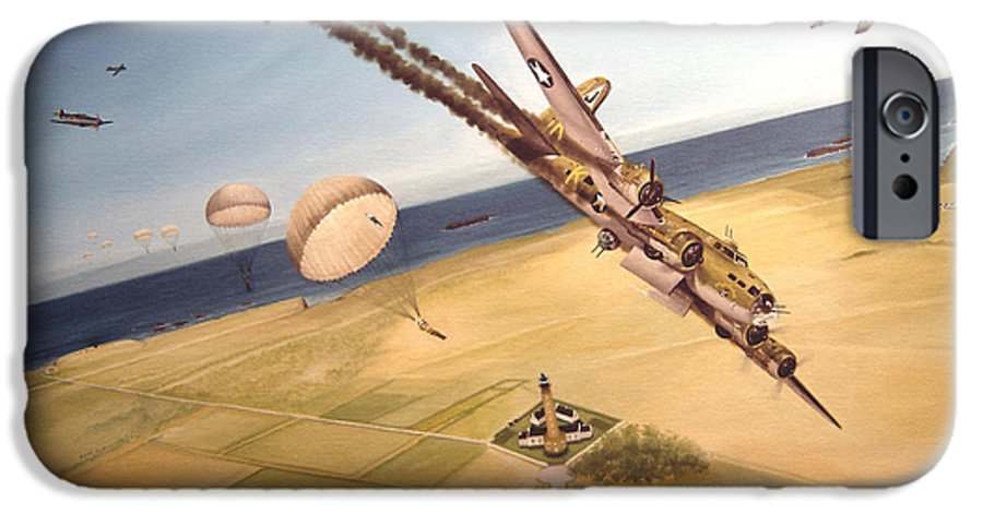 Aviation IPhone 6 Case featuring the painting Mehitabel by Marc Stewart
